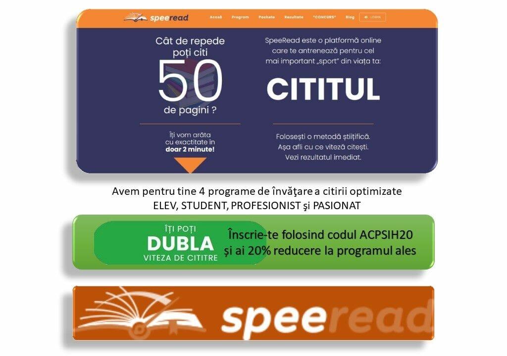 Steereead - Platformă de citire rapidă optimizată